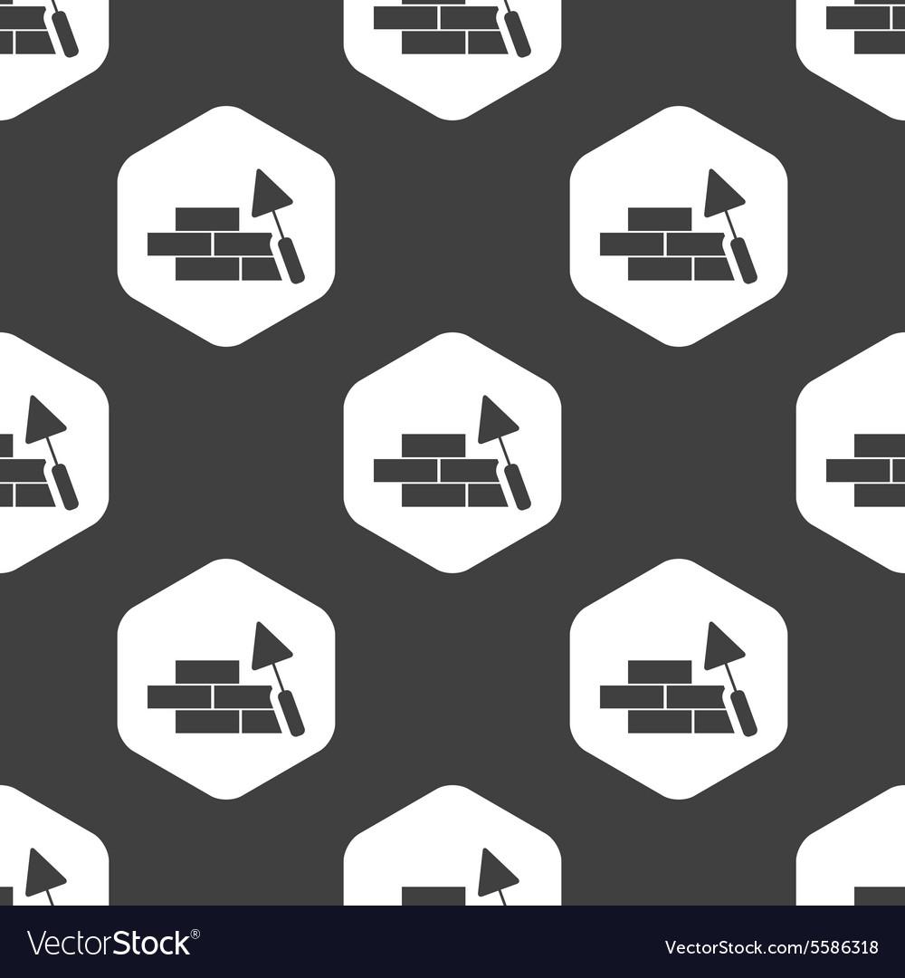 Black hexagon building wall pattern