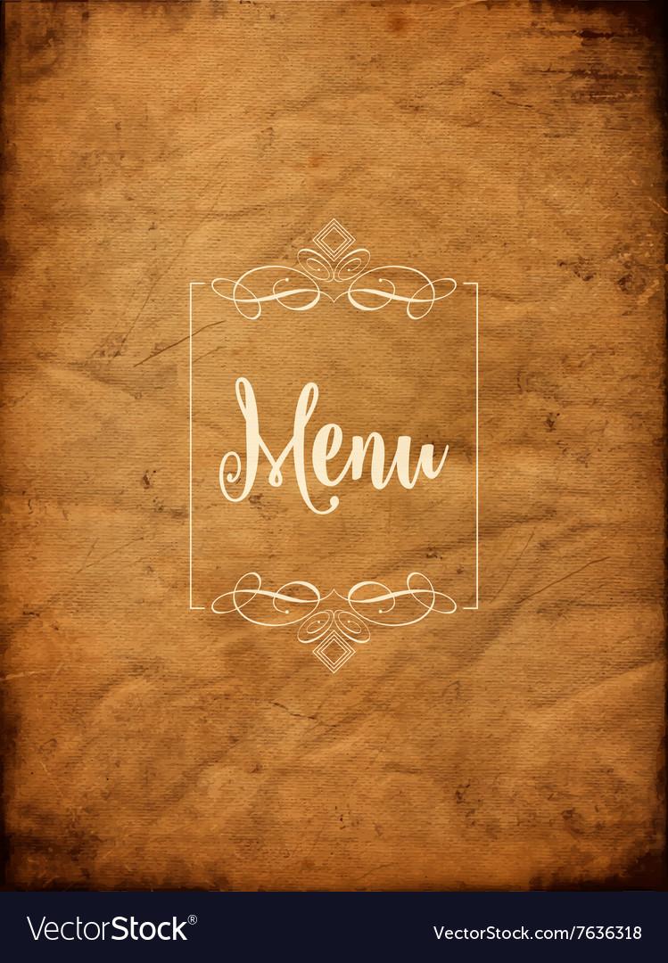 Decorative grunge menu background 1405