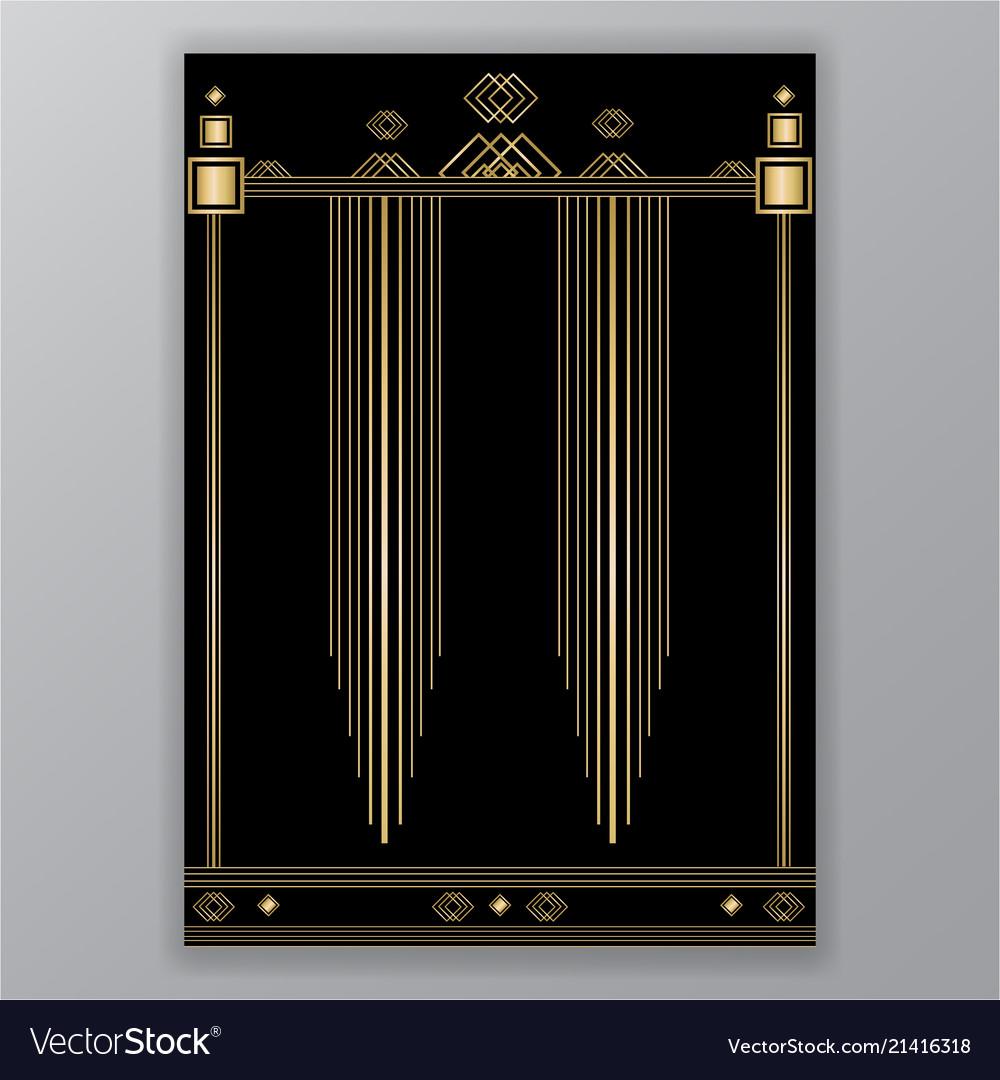 Elegant art deco page design menu decoration