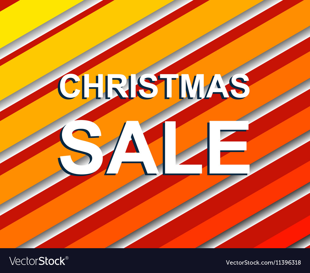 Red striped sale poster with CHRISTMAS SALE text