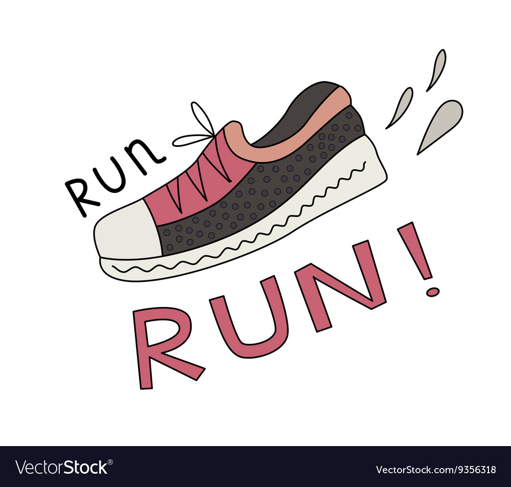 Sneaker and Run lettering