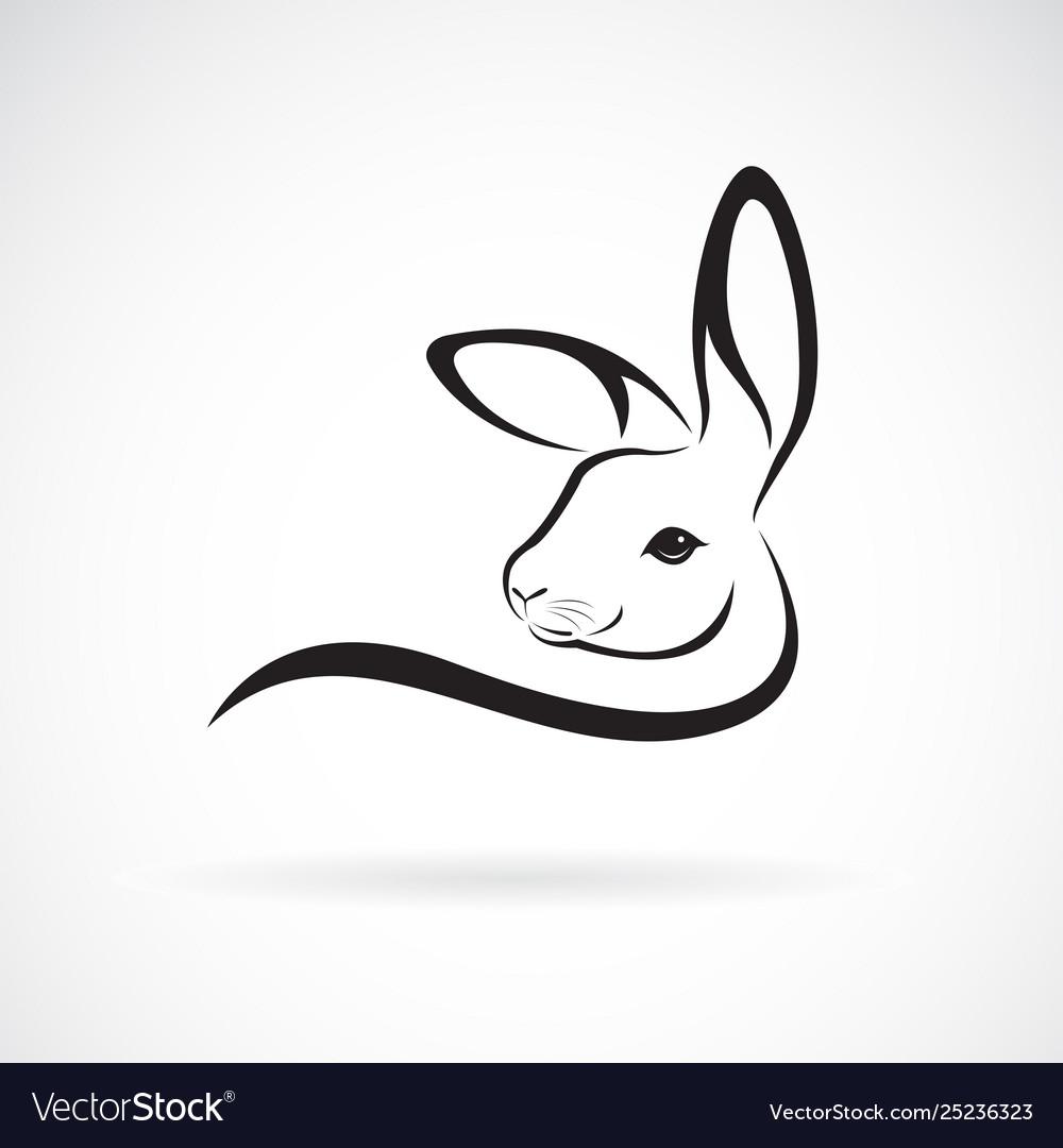 A rabbit head design on white background wild