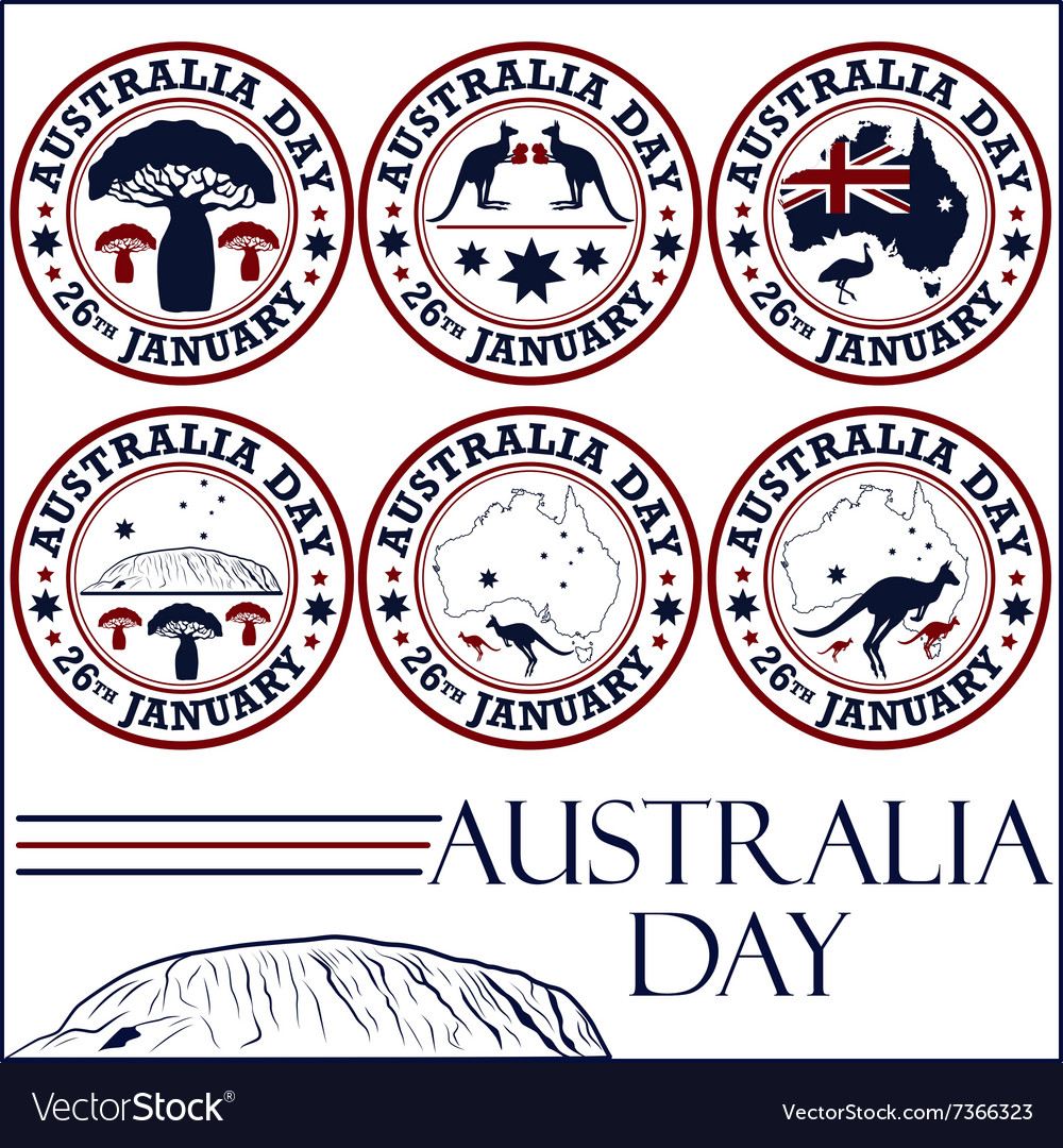 Australia day stamps vector image