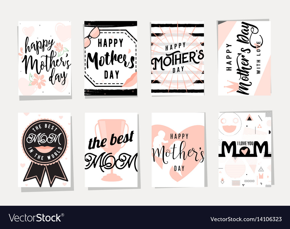 Card set for happy mothers