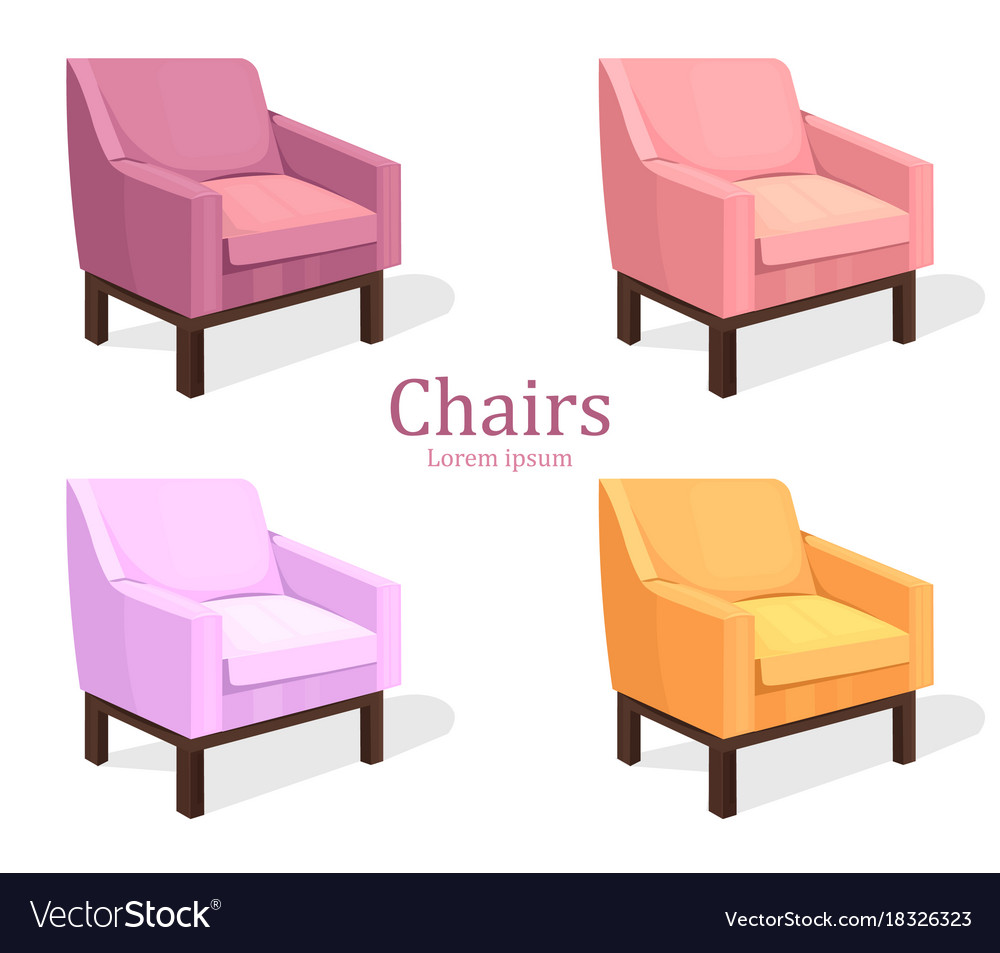 Colorful chairs set modern upholstery vector image  sc 1 st  VectorStock : chair upholstery - lorbestier.org
