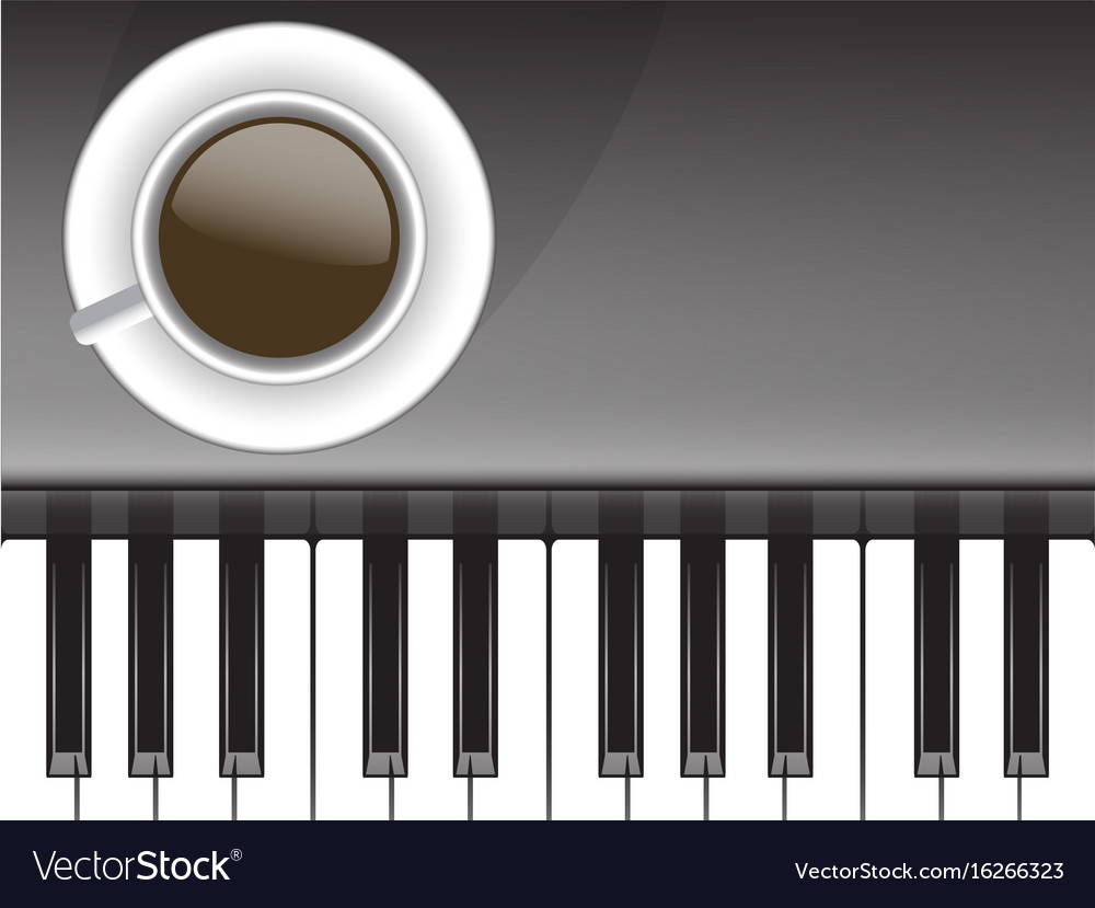 Cup of coffee and musical love coffee