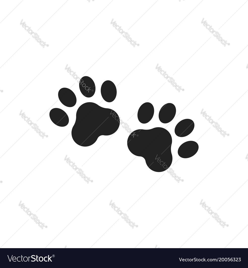 Paw Print Icon Dog Or Cat Pawprint Animal Vector Image