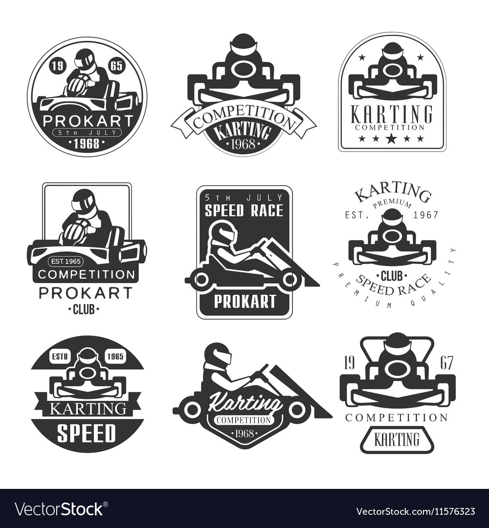 Premium Quality Procart Competition Club Set Of vector image