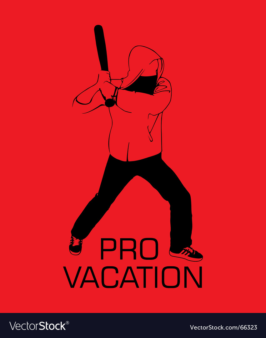 Pro vacation vector image