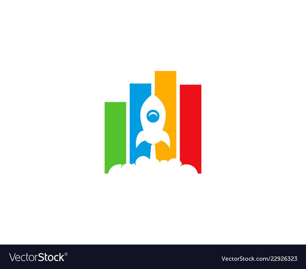 Rocket statistic logo icon design