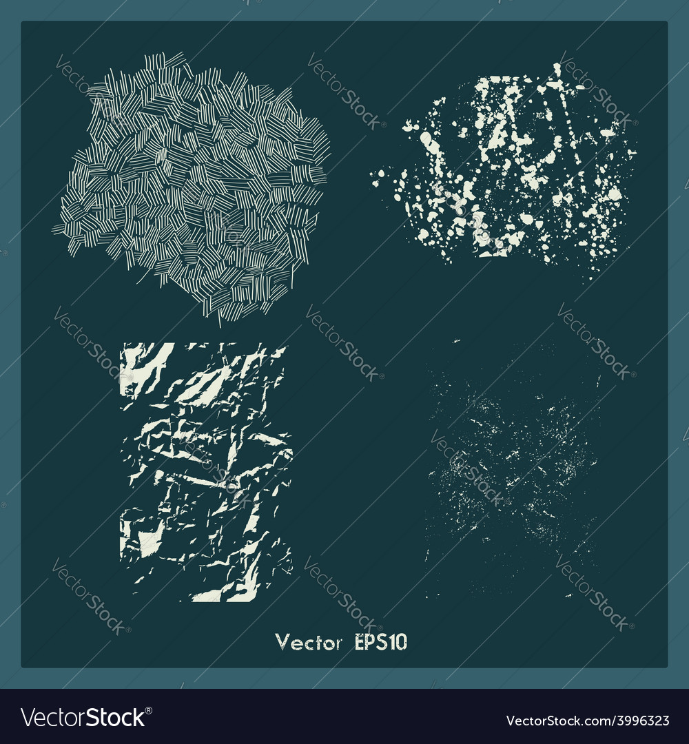 Set of different grunge textures