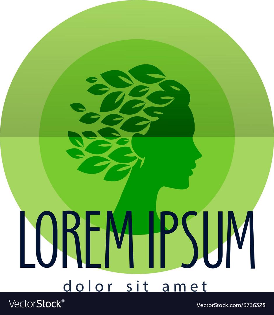 logo design template makeup Vector Image