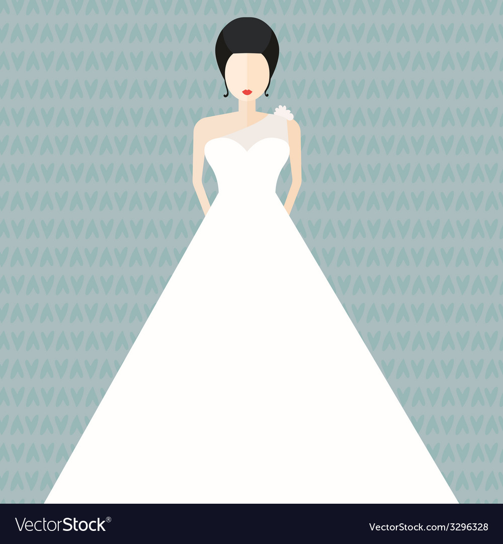 Bride in Flat Style