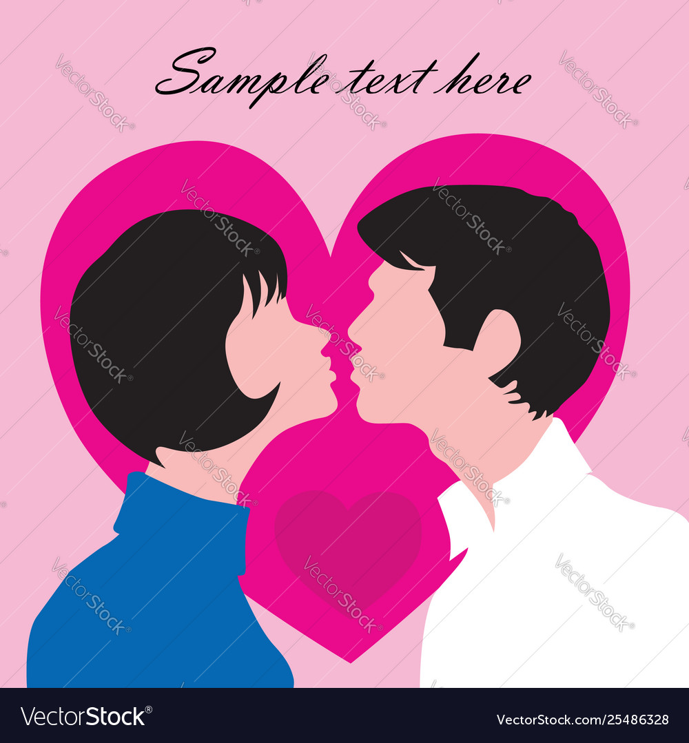 Couple in love st valentine days greeting card