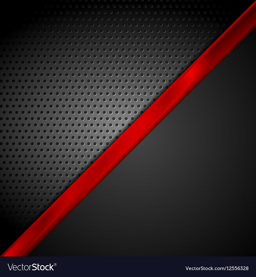 Dark red black tech abstract background