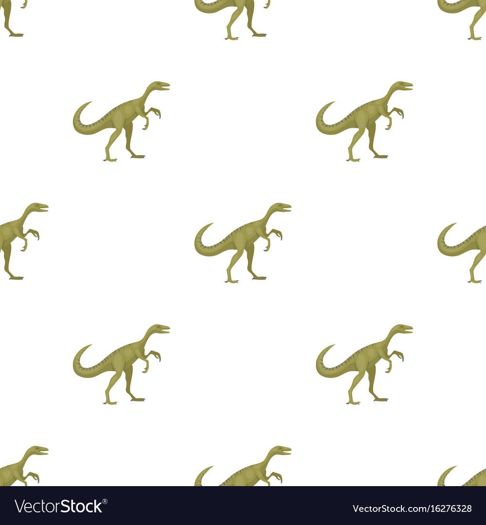 Dinosaur gallimimus icon in cartoon style isolated