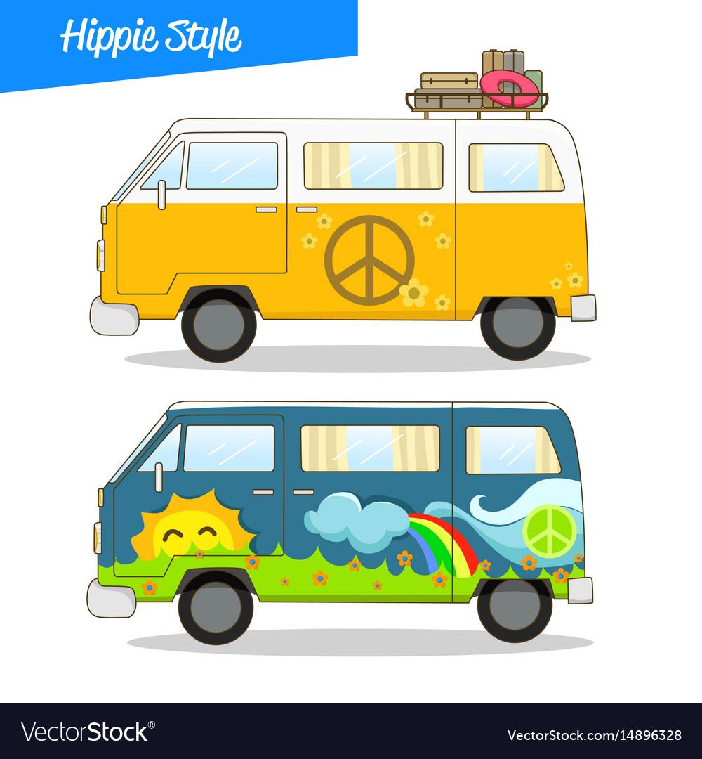 Retro styled hippie van