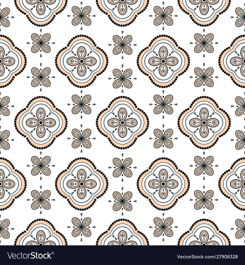 Seamless geometric rosette pattern