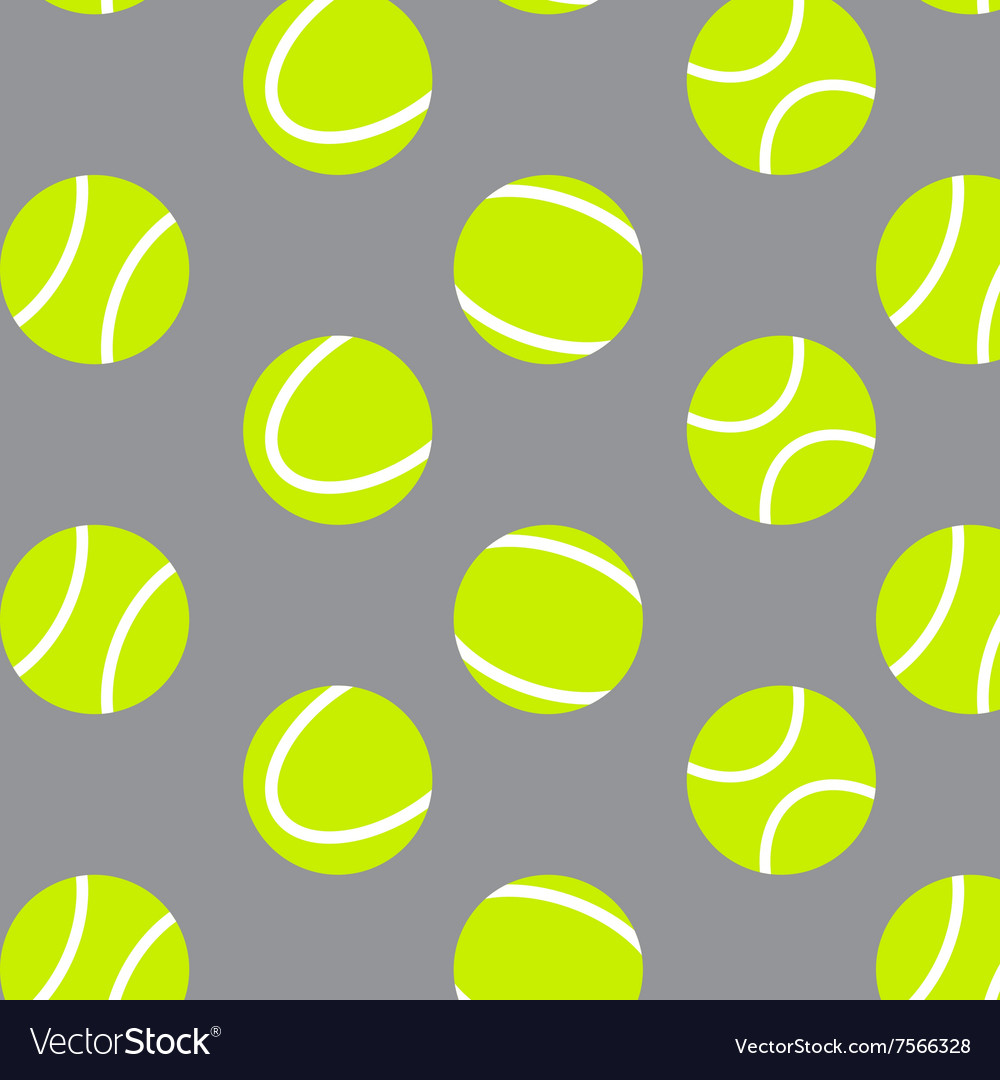 Tennis Ball Seamless Pattern Background Royalty Free Vector