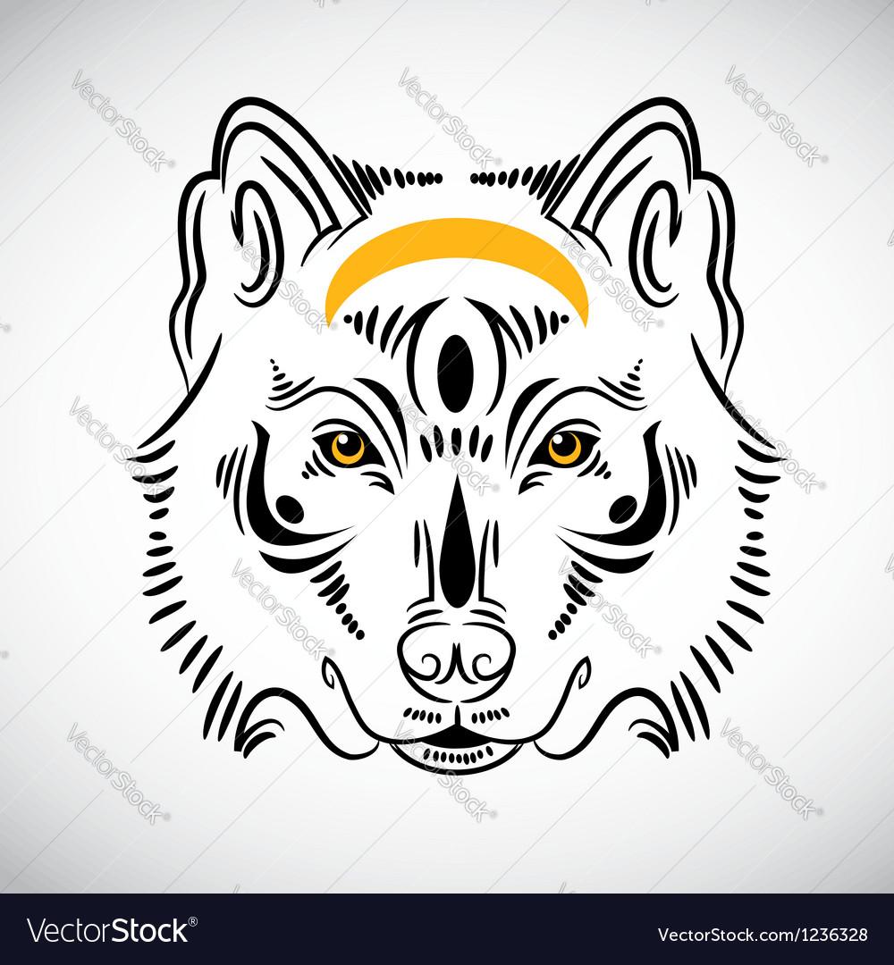 Wolf tattoo stylish ornate