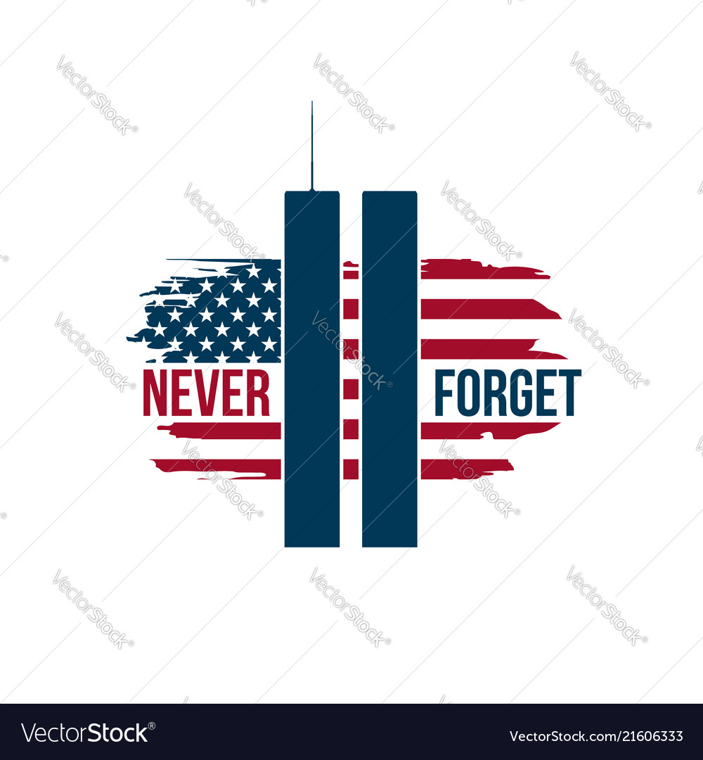 911 patriot day card with twin towers on american