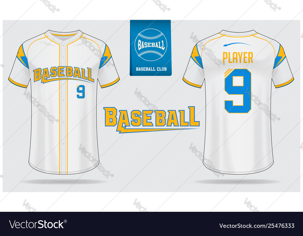 Baseball Jersey Or Raglan T Shirt Sport Template Vector Image