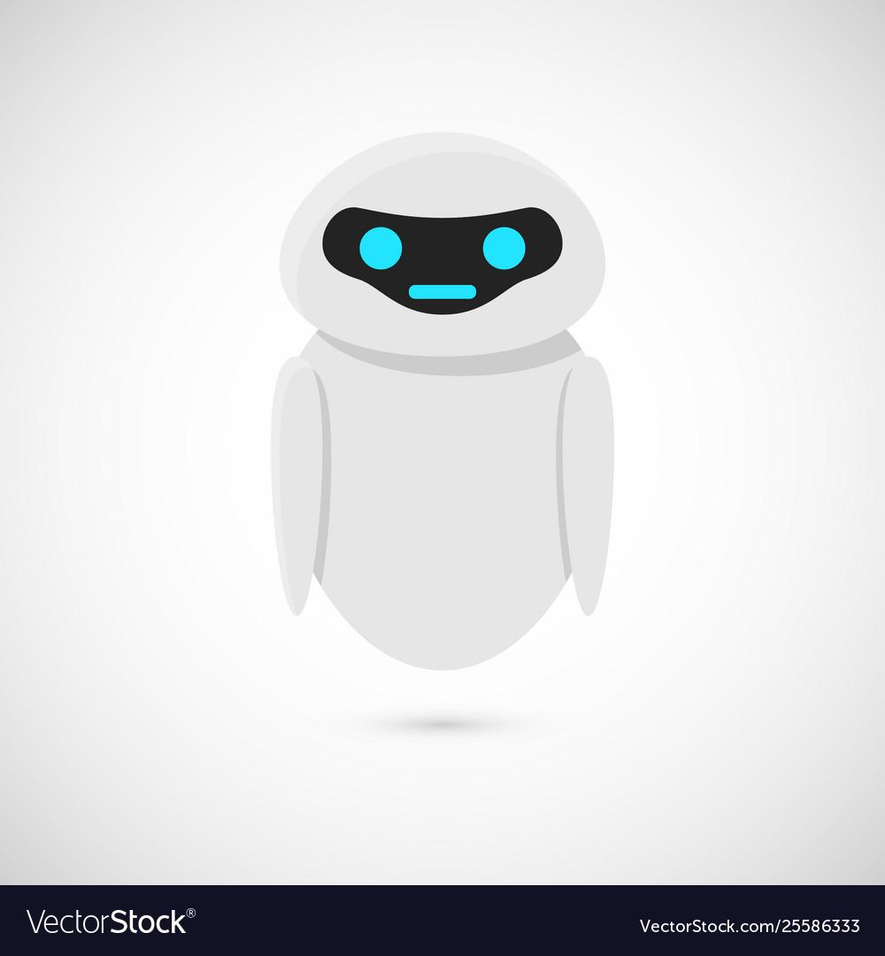 Cartoon robot character chat bot