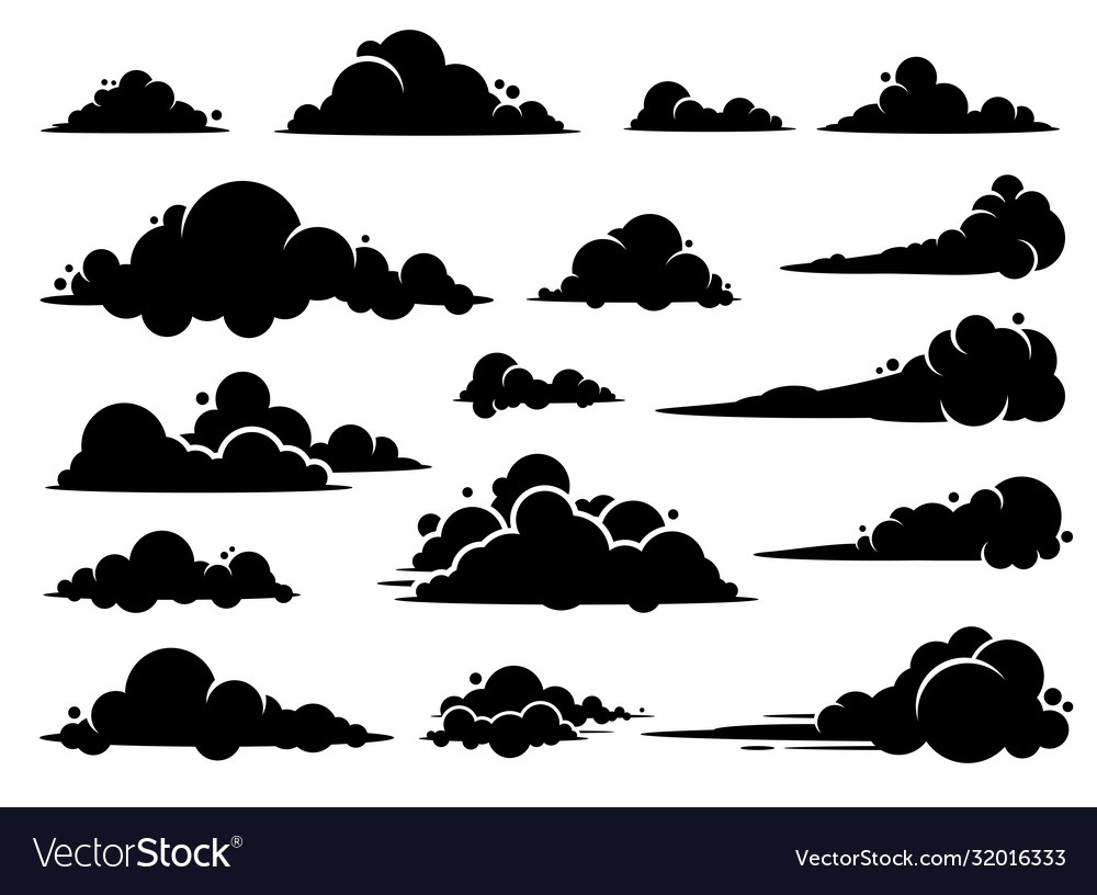 Cloud graphic design a set clouds in sky vector