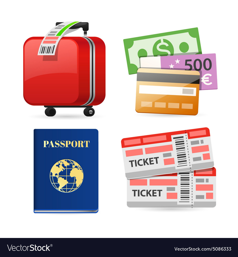 Colorful Travel Planning Icons