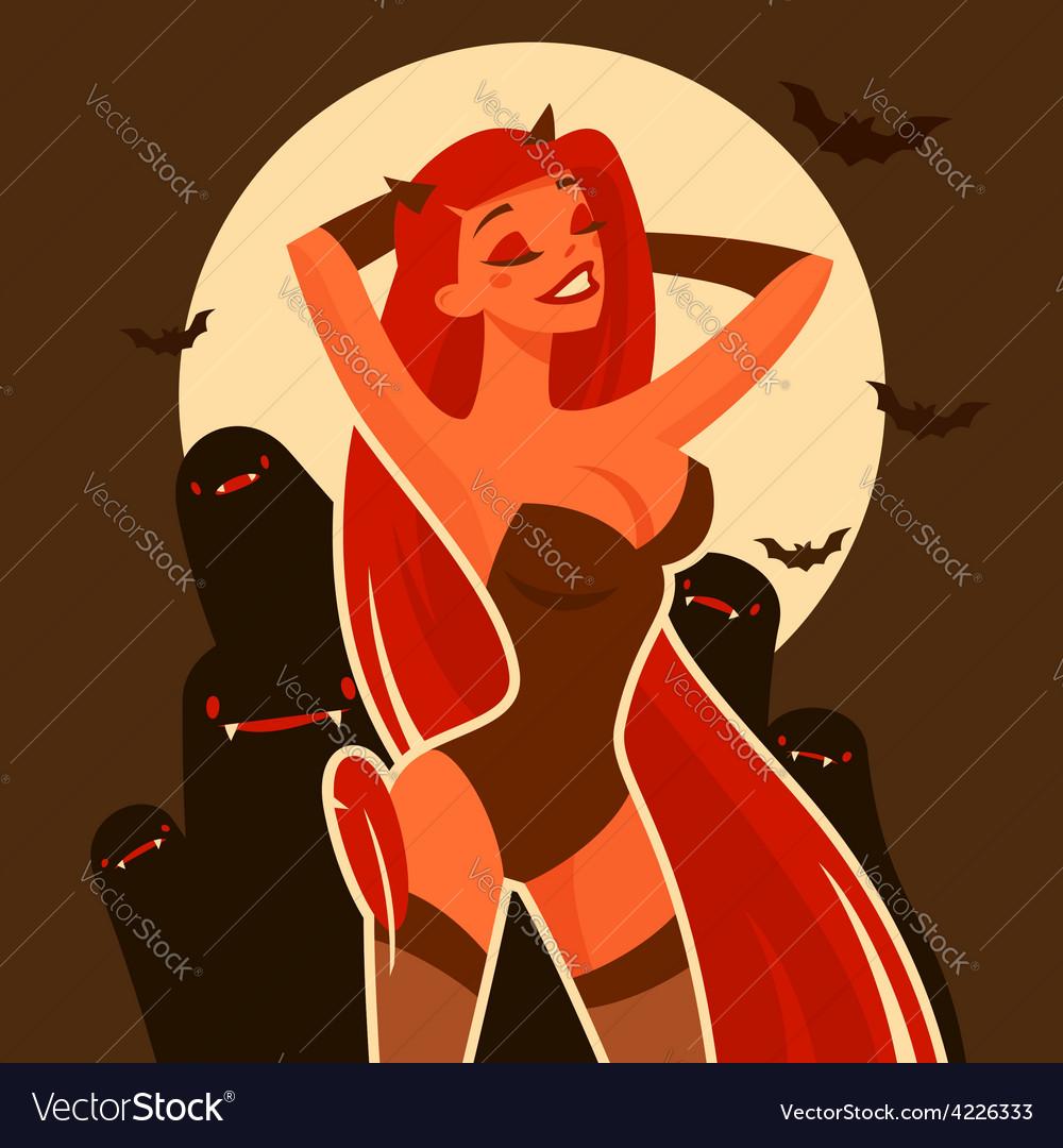 Halloween devil vector image