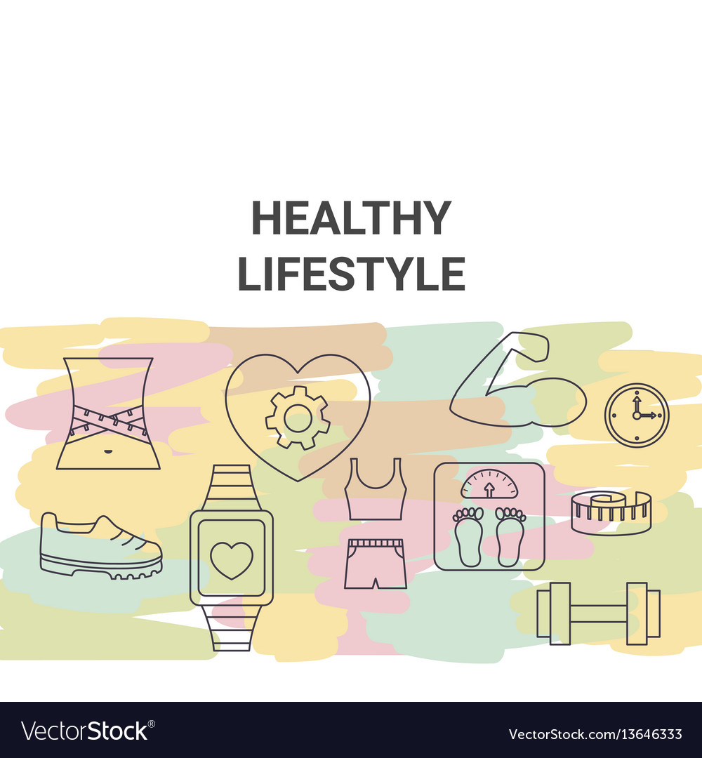Healthy lifestyle concept healthy lifestyle