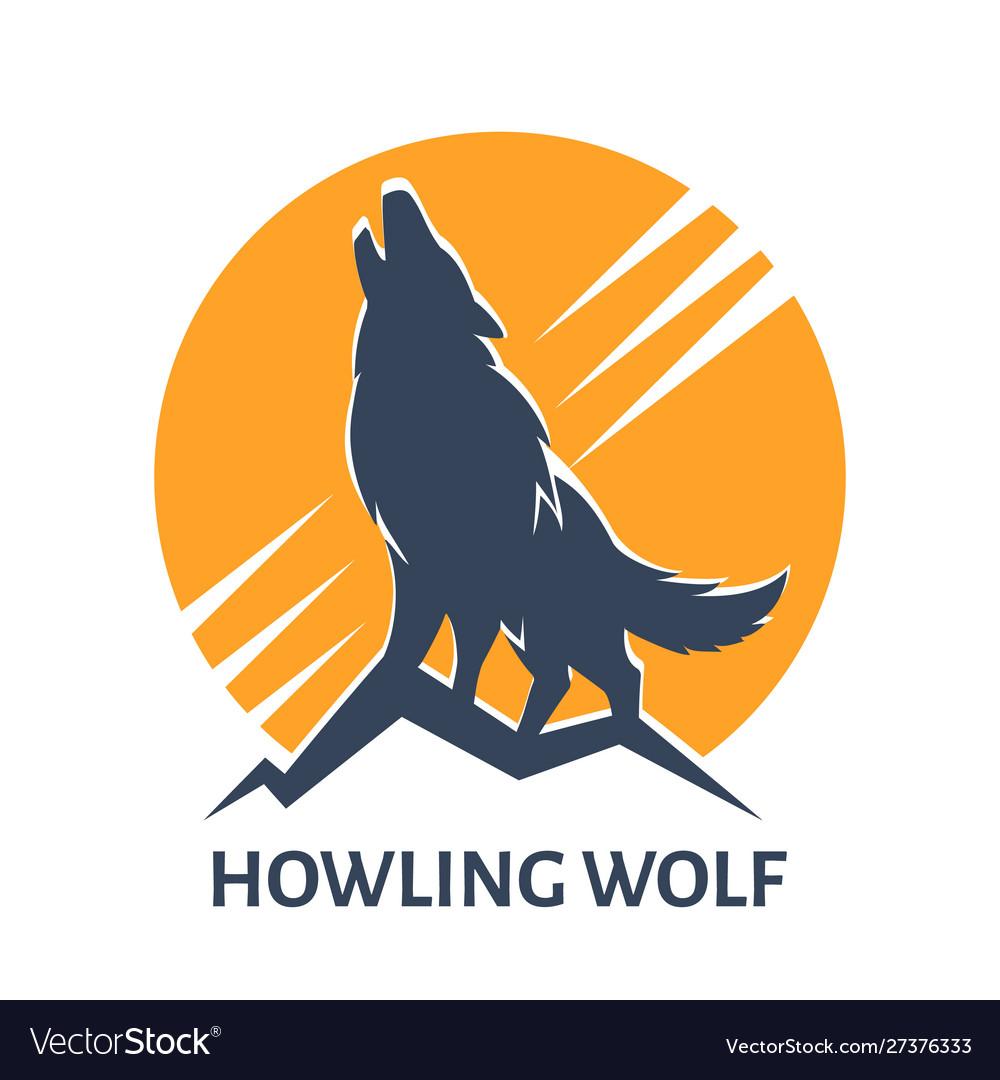 Howling wolf emblem
