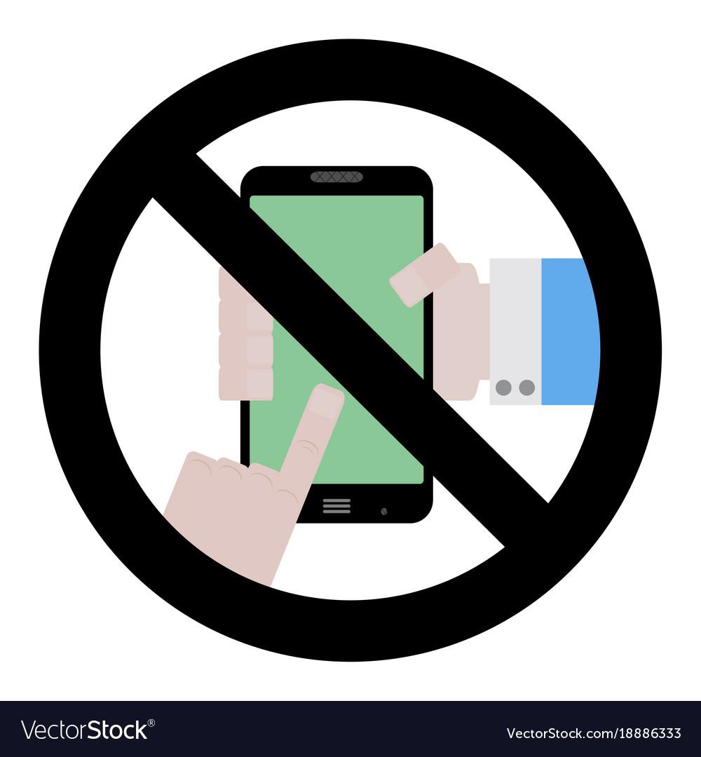 no use phone symbol vector image