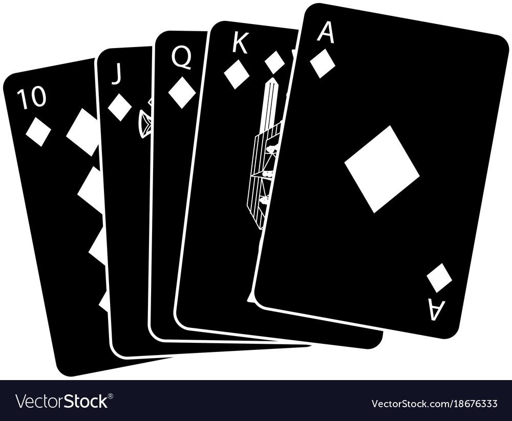 Royal flush playing cards poker casino