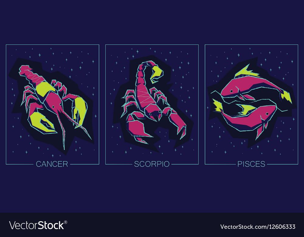 Zodiac Water Signs Cancer Scorpio Pisces