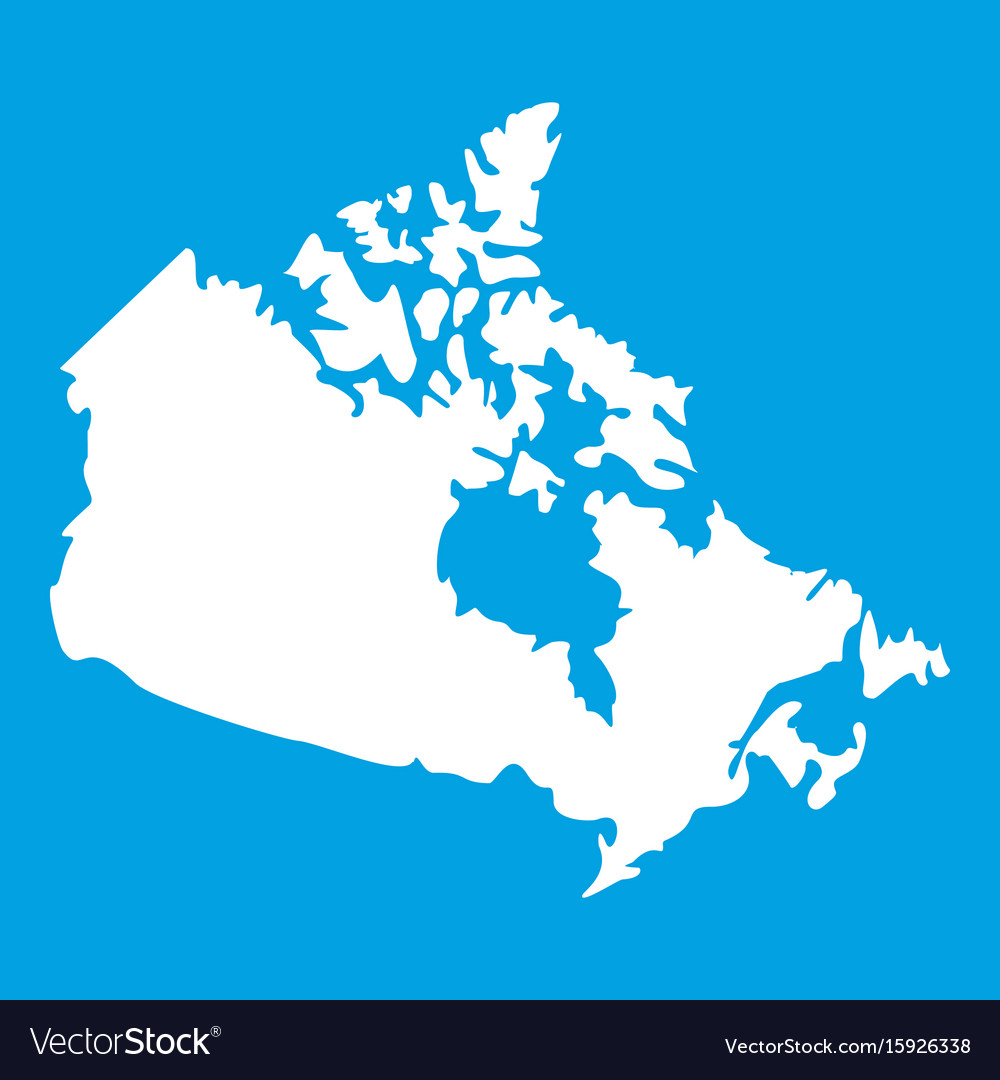 Canada Map Vector Canada map icon white Royalty Free Vector Image