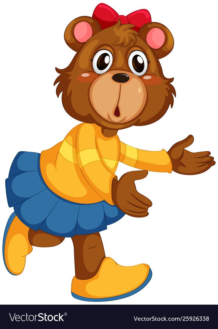Cute female bear character