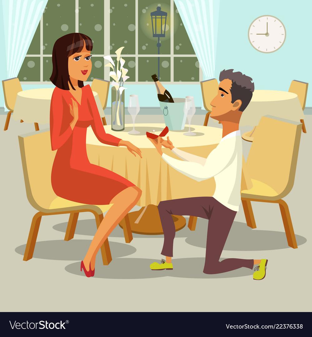 Marriage proposal flat