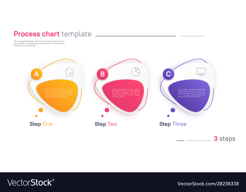 Process chart infographic template in the