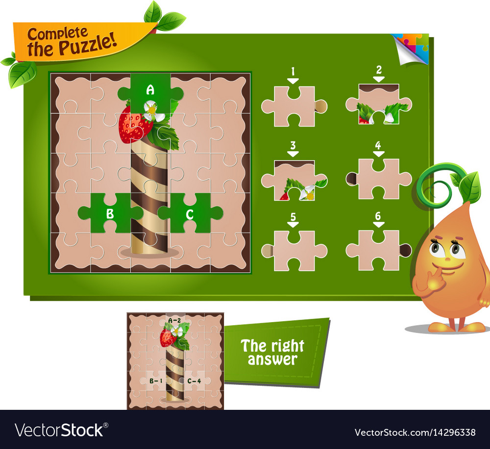 Cartoon Characters 8 Letters : Puzzle letters of the alphabet i royalty free vector image