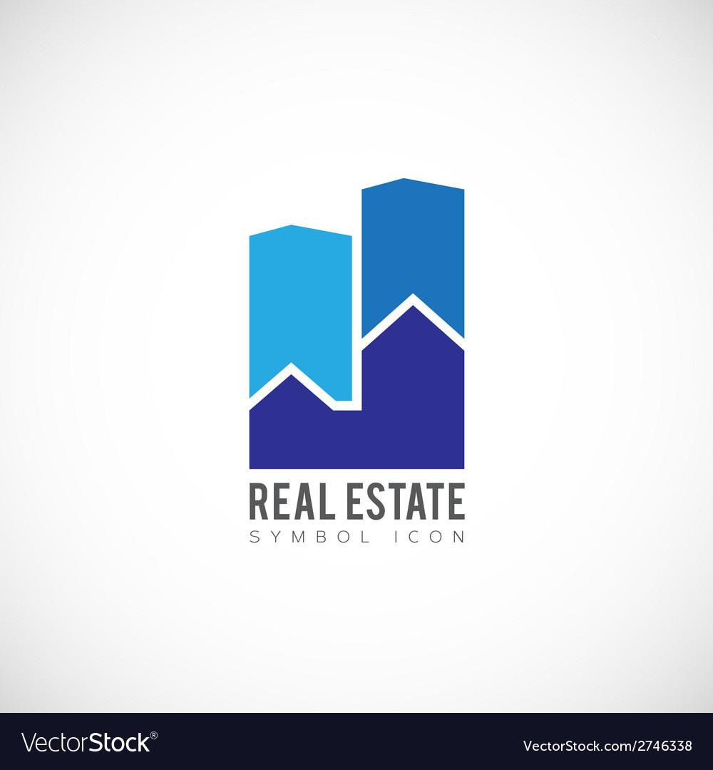 Real Estate Concept Symbol Icon or Logo Template