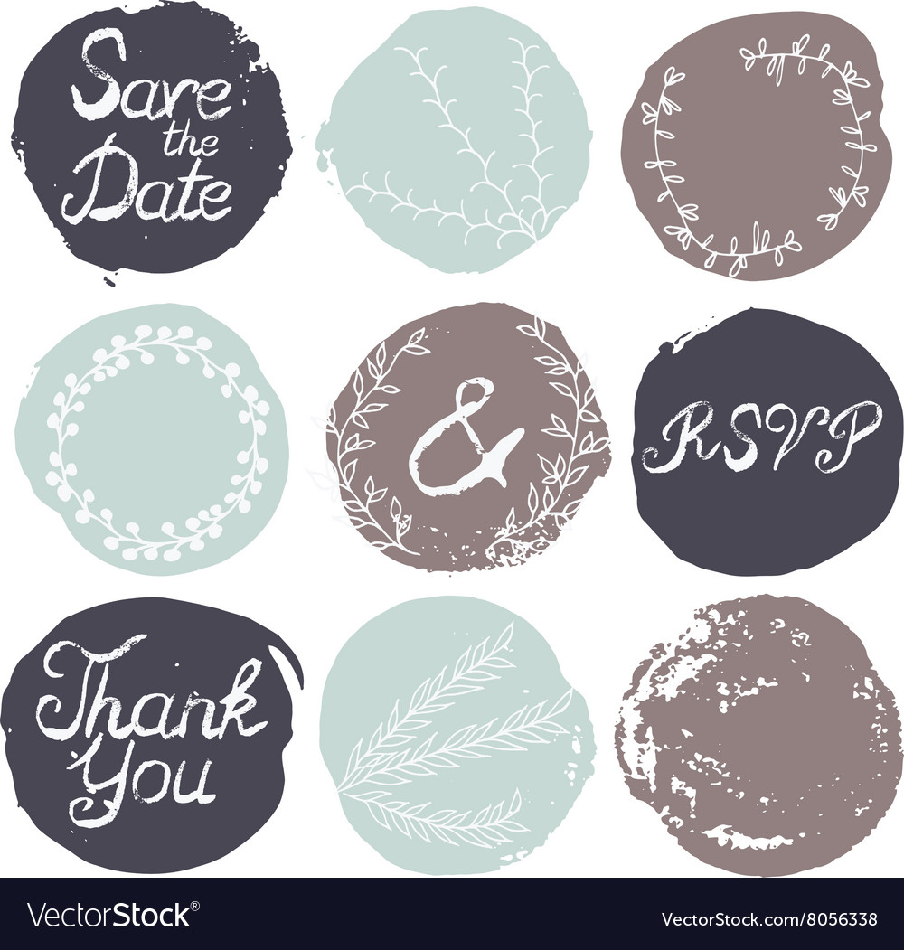 Set of 9 decorative wedding elements