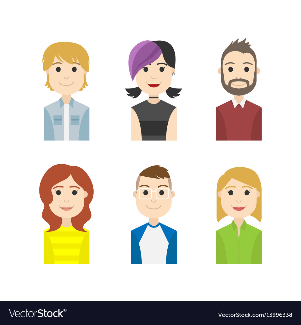 Simple people avatar business and carrier characte
