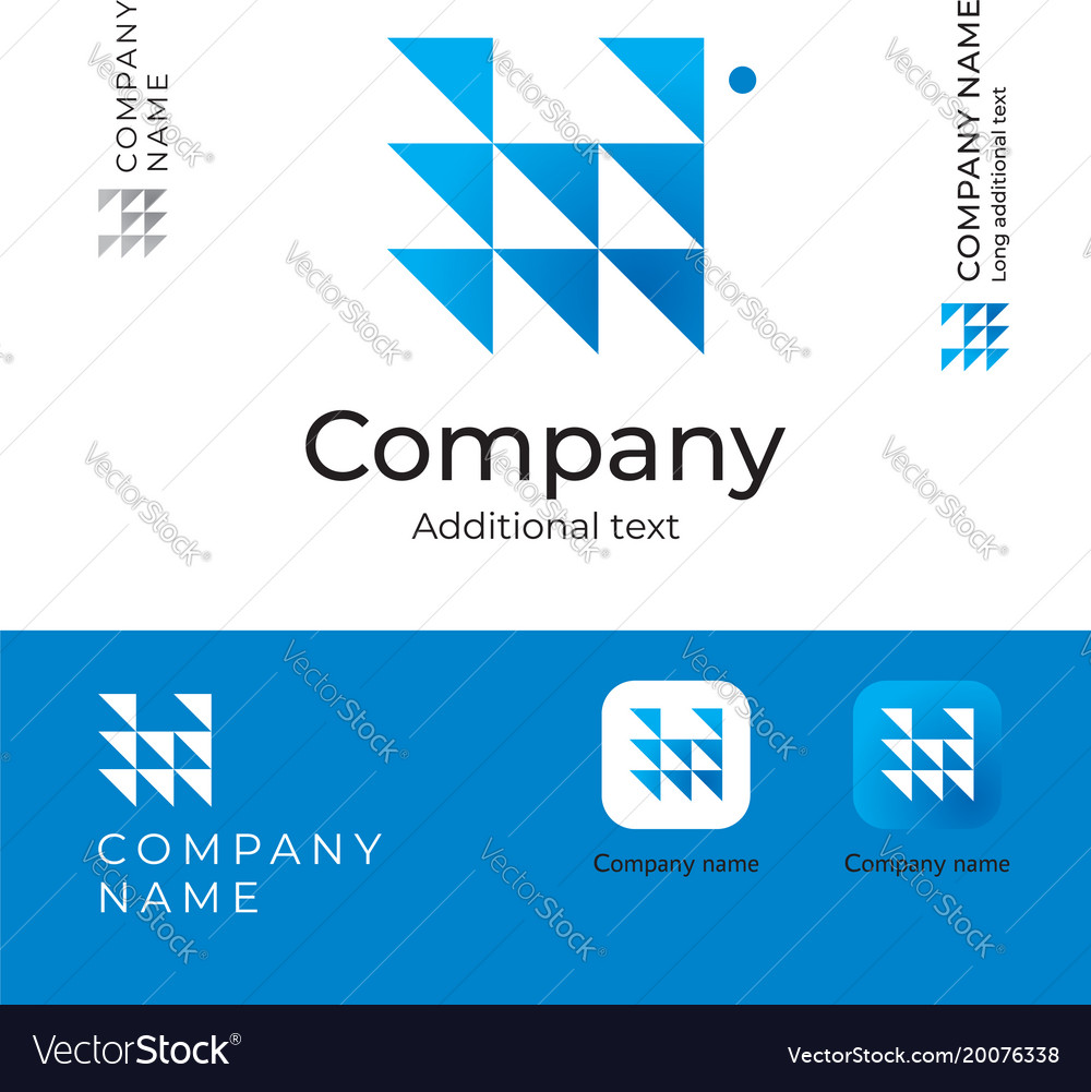 Triangles abstract modern logo design for serious