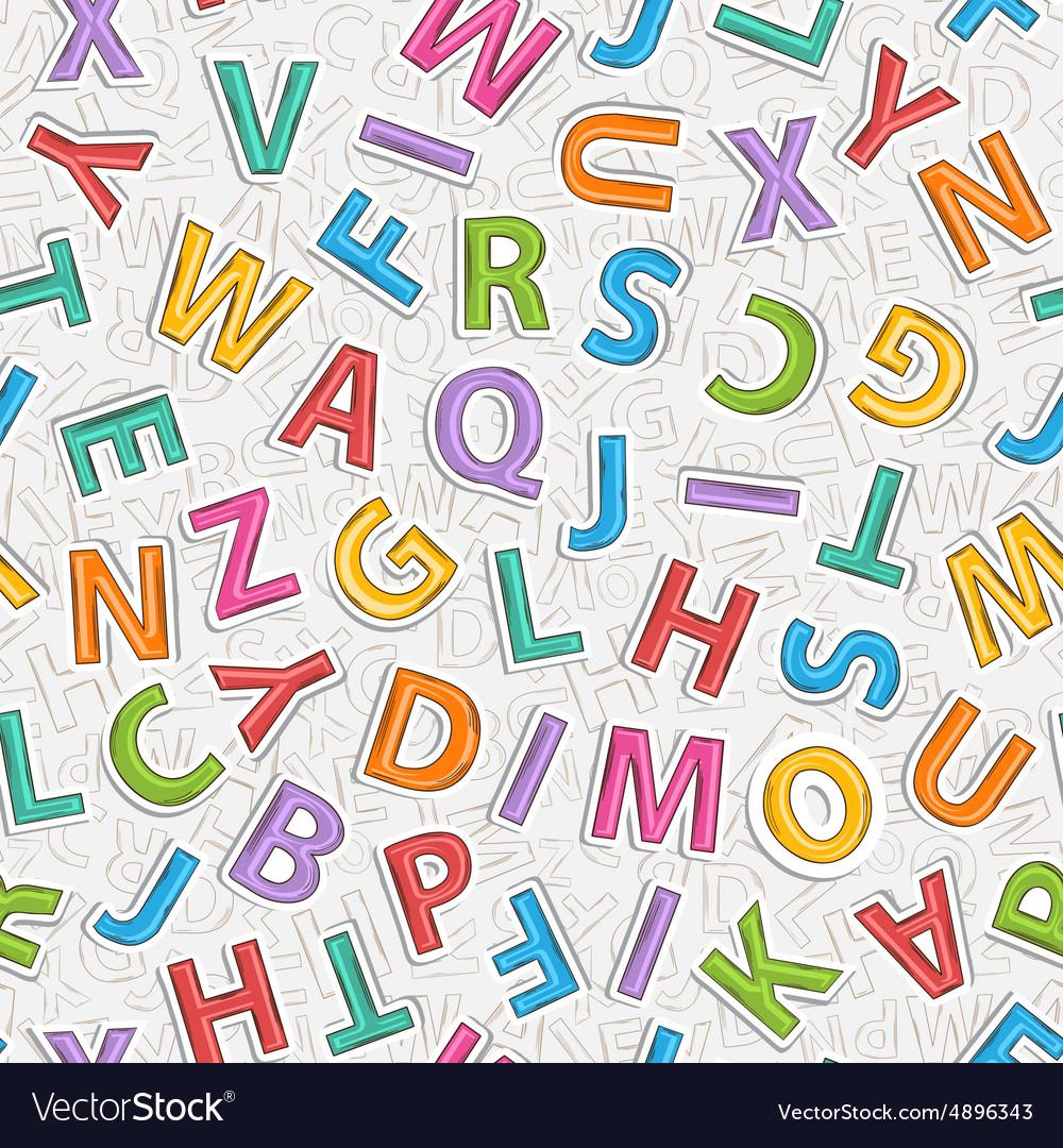 Alphabet letter pattern vector image