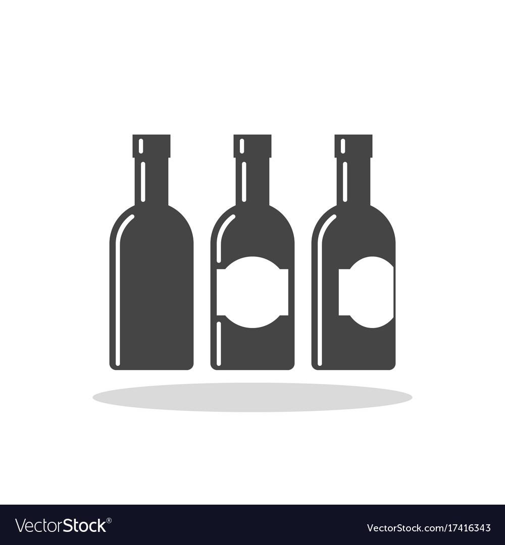 Bottle of alcohol flat icon