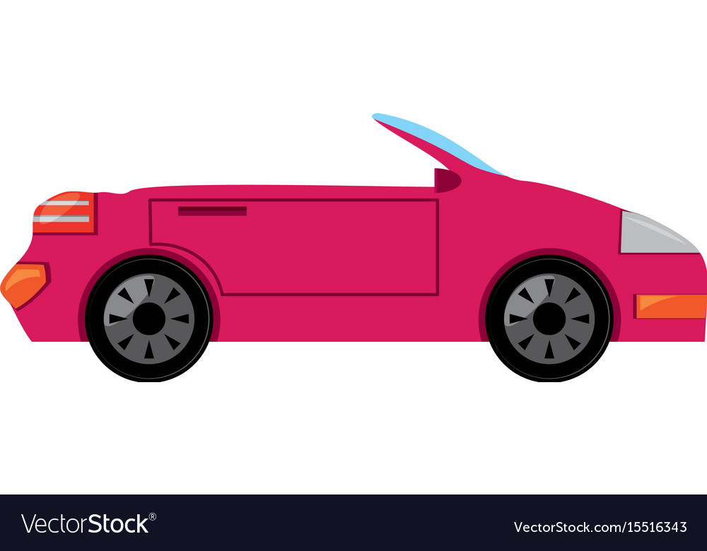 Convertible sport car vector image