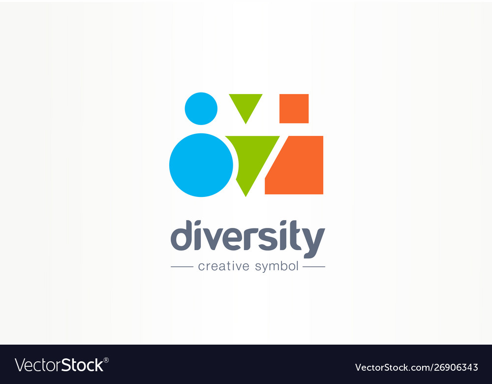 Diversity creative symbol concept different shape