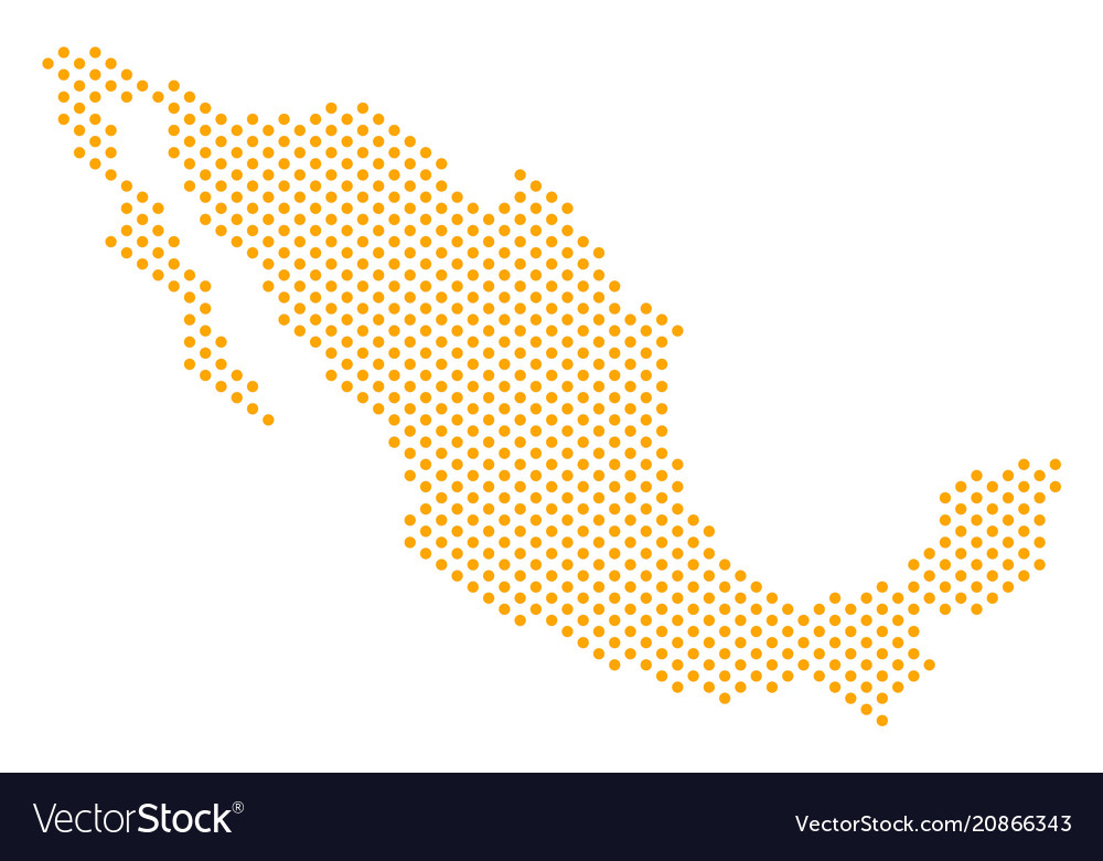 Dotted mexico map Royalty Free Vector Image - VectorStock