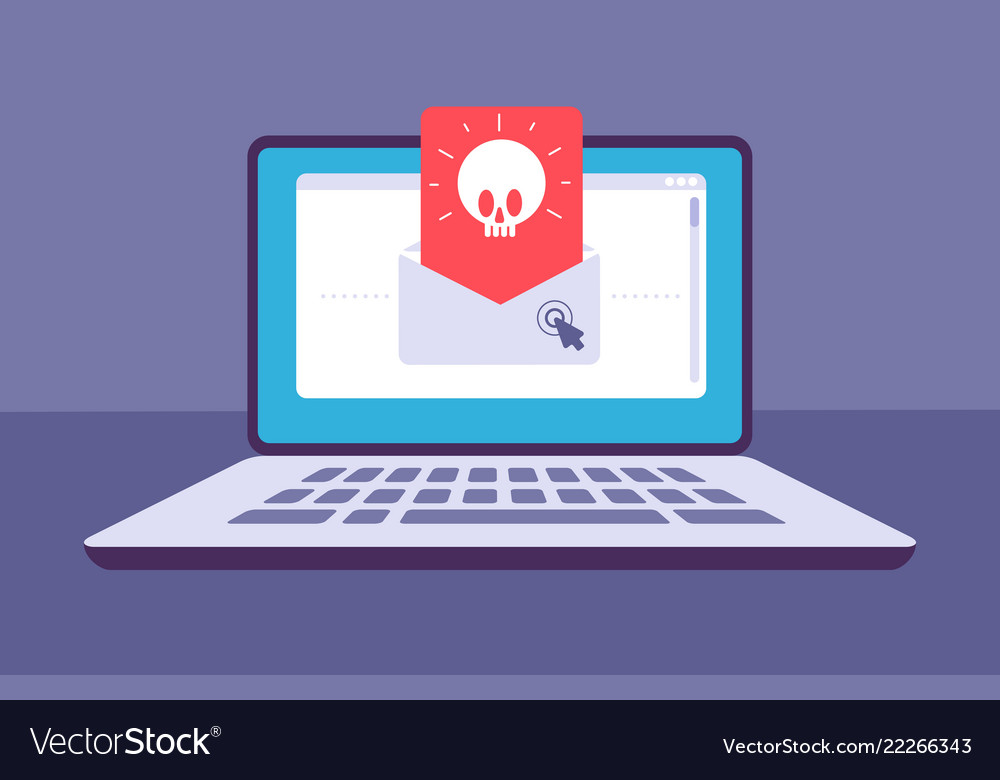 Email virus envelope with malware message